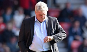 Hull City's manager Steve Bruce knows time is running out for his side to avoid relegation from the